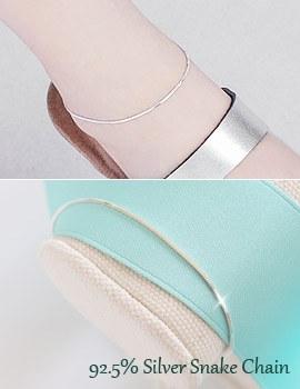 1043458 - <BC376-HE16> [Silver] subtle snake anklet