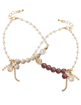 1043471 - <BC382-HG05> slow garden gemstone bracelet