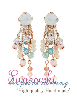 1043484 - <ER761-GE23> [Swarovski] bonpoint earrings