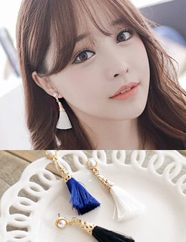 1043485 - <ER758-DH30> [Same day delivery] [clip type] paulina tassel earrings