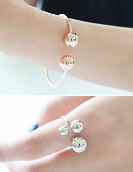 1043503 - <JS163-IF11> [ring / bracelet 2bell set] bubble bubble set