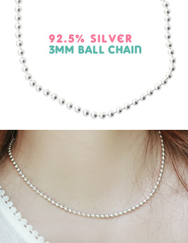 1043508 - <NE218-IF11> [Silver] 3mm ball necklace