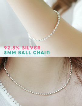 1043509 - <JS164-IF11> [3bell set] [Silver] 3mm ball set
