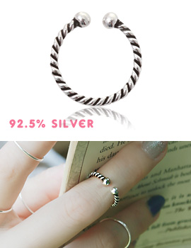 1043512 - <RI436-AC18> [Silver] extra knuckle ring