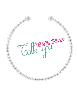 1043515 - <BC395-BD08> [Silver] talk you bangle bracelet