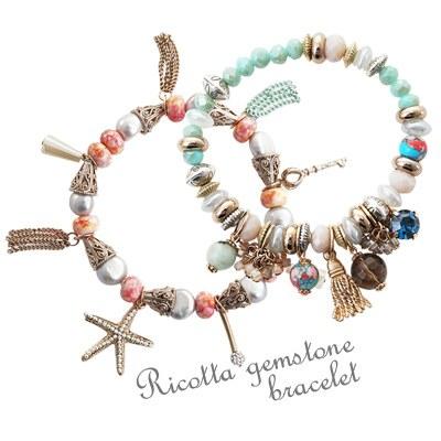 1043517 - <BC396-HE12> [handmade] ricotta gemstone bracelet