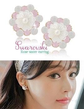 1043525 - <ER767-DC25> rose Water earrings