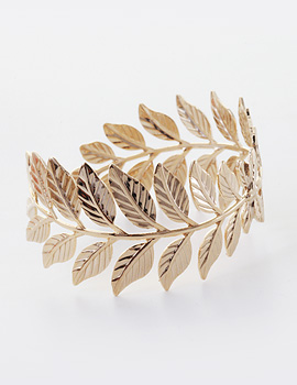 1043533 - <BC400-HE12> fossil Leaf bangle bracelet
