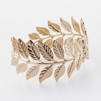1043533 - <BC400-HE12> fossil Leaf bangle bracelet