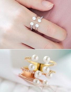 1043544 - <RI443-DM06> appetizer pearl ring