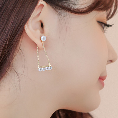 1043548 - <ER773-DG10> [hours that loved you Oh, Hana] [Silver Post] lady in pearl earrings