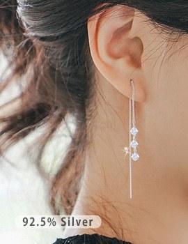 1043554 - <ER774-IC02> [Silver] da vinci luxury cubic earrings