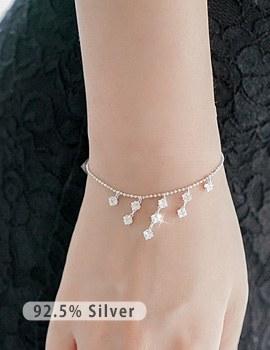 1043557 - <BC405-IC02> [Silver] da vinci luxury cubic bracelet
