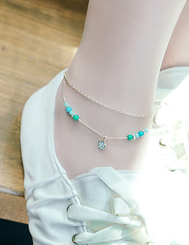 1043564 - <BC409-S> [Immediate out of stock] Illa la gemstone anklet