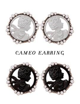 1043566 - <ER777-DD14> cameo earrings