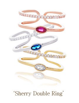 1043572 - <RI447-S> Sherry double ring