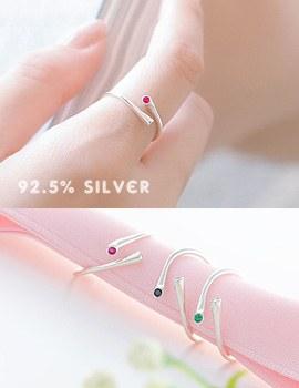 1043582 - <RI449-AC02> [Upscale Society Jang yoonha] [Silver] urban Mini cubic ring