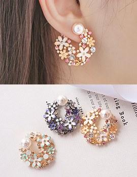 1043595 - <ER786-CG13> Barbara Flower earrings