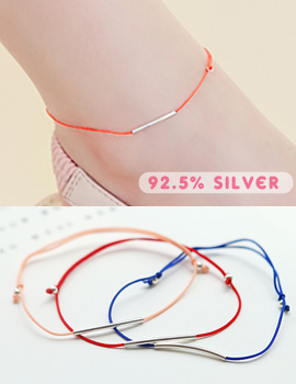 1043605 - <BC414-IH03> [Silver] Everyday simple anklet