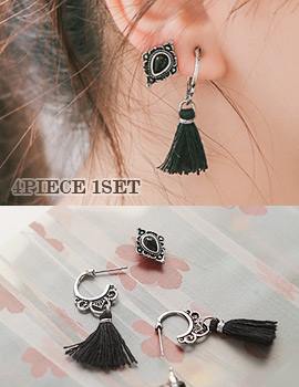 1043629 - <ER793-DF08> Lapis earrings