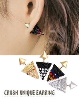 1043666 - <ER797-DI16> Crush unique earrings