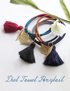 1043664 - <HA392-FD06> diel tassel ponytail