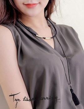 1043672 - <NE238-S> [Out of stock] Tir tassel necklace