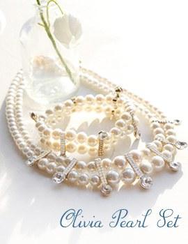 1043675 - <JS169-IB02> Olivia pearl set