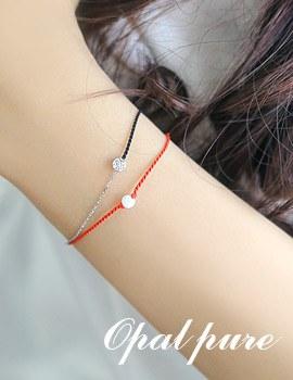 1043683 - <BC429-S> [Silver] opal pure bracelet