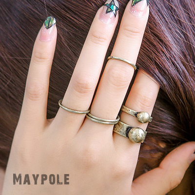 1043686 - <RI466-S> [Immediate out of stock] [5Piece 1set] Mei Paul antique ring