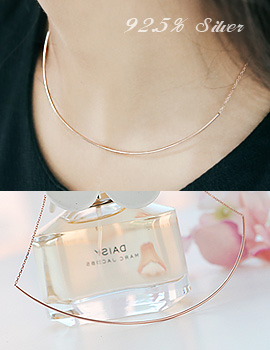 1043687 - <NE241-BD04> [Silver] chloe round necklace