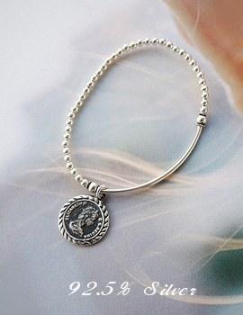1043689 - <BC431-HC07> [Silver] Elie coin bracelet