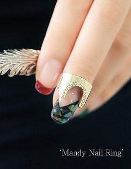 1043698 - <RI468-S> Mandy nail ring