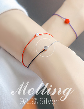 1043701 - <BC432-HH12> [Silver] Meltting silk bracelet