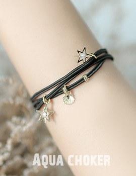 1043710 - <BC434-IH08> Aqua choker bracelet