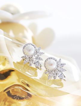 1043732 - <ER812-S> [Out of stock] [clip type] cherish pearl earrings