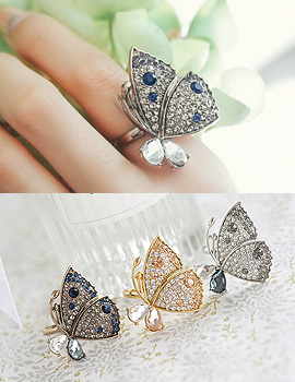 1043744 - <RI470-S> [Out of stock imminent] Charming butterfly ring