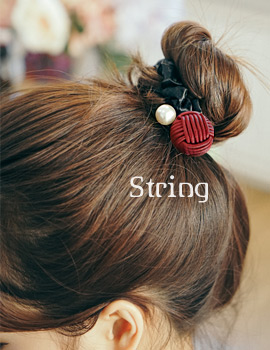 1043761 - <HA405-FE03> string pearl ponytail