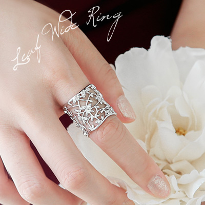1043773 - <RI476-S> [Immediate out of stock] Leaf wide ring