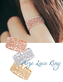 1043775 - <RI477-JG18> arze lace ring