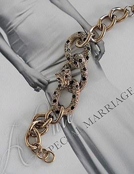 1043782 - <BC440-IE08> Wild Jaguar bracelet