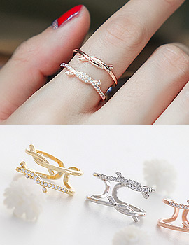 1043785 - <RI479-S> [Immediate out of stock] knot ring