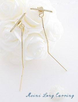 1043788 - <ER832-DI29> [Silver Post] Meini long earrings