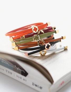 1043793 - <BC441-HH14> Close leather bracelet