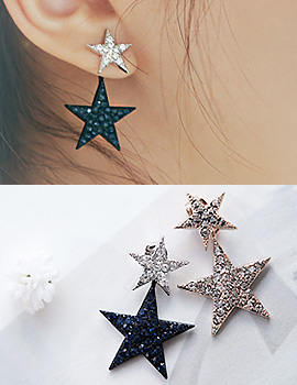 1043799 - <ER835-CH10> Milky way two-way earrings