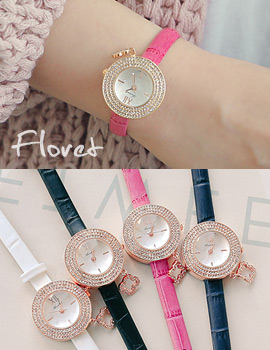 1043809 - <WC091-S> [Out of stock] floret leather watches