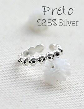 1043816 - <RI483-BE08> [Silver] Preto ring