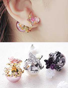 1043817 - <ER839-CH17> ageha tribale earrings