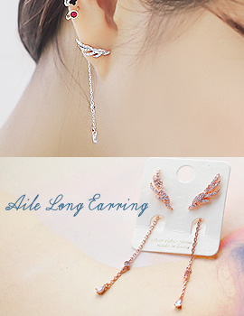 1043833 - <ER843-GG12> [Silver Post] el long earrings