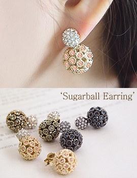 1043836 - <ER845-CF23> [Silver Post] Sugar Bow tribale earrings